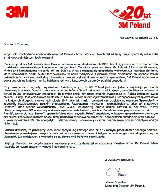 20 lat 3M w Polsce