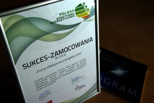certyfikat sukces-zamocowania firma efektywna