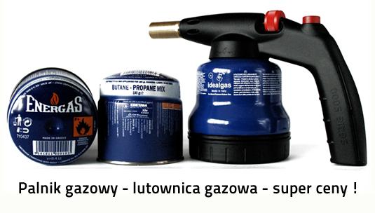 lampa lutownicza palnik gazowy kartusze z gazem super cena gratisy w ofercie firmy  pro