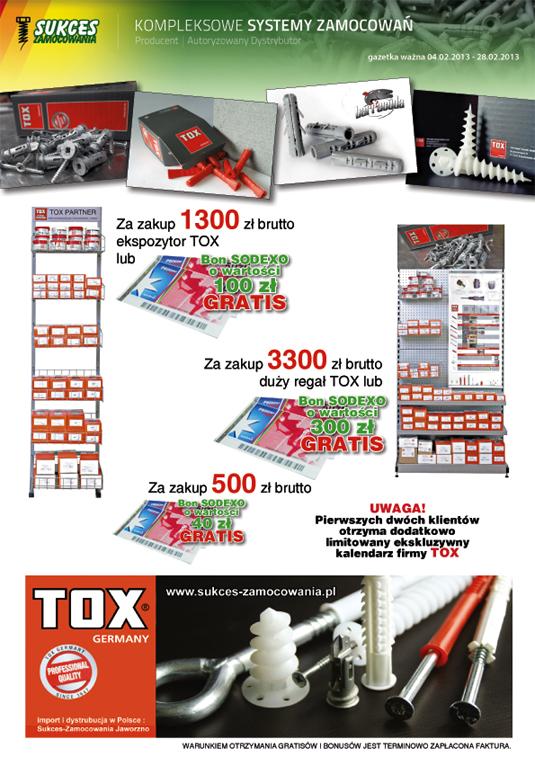 Tox mocowania oferta promocyjna kolki kotwy rozporowe stalowe