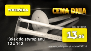 Kołki do styropianu 10x140 łącznik izolacji cena dnia promocja