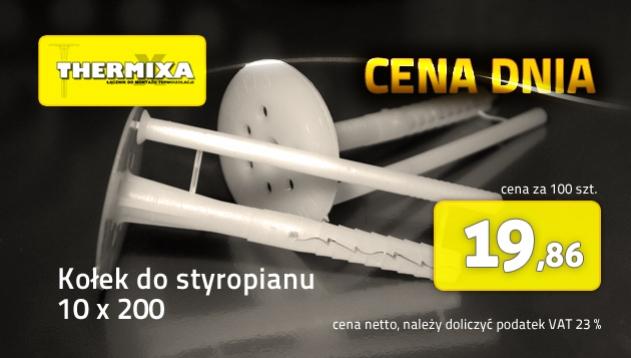 Kołki do styropianu 10x200 łącznik izolacji cena dnia promocja