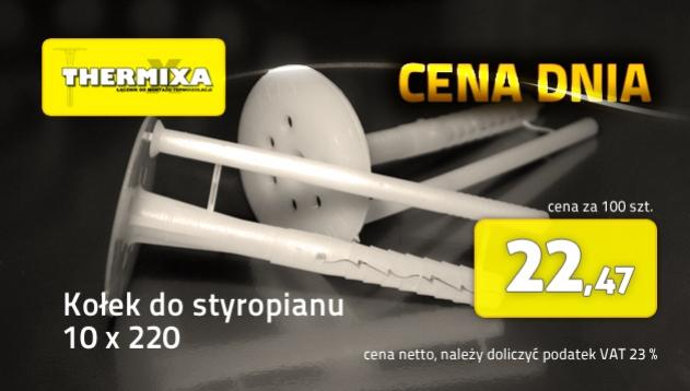 Kołki do styropianu 10x220 łącznik izolacji cena dnia promocja