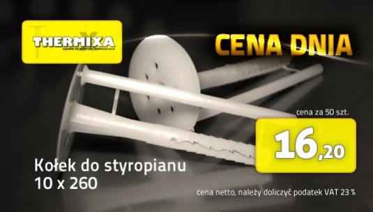 Kołki do styropianu 10x260 łącznik izolacji cena dnia promocja