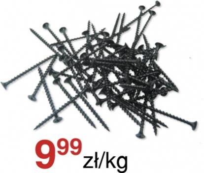 Wkręty do płyt gipsowych (czarne) cena 9,99 zł/kg