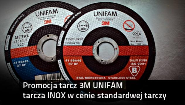 3M UNIFAM tarcze do cięcia stali nierdzewnej promocja
