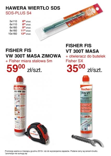 Kotwy chemiczne fischer wiertła Hawera super ceny promocja