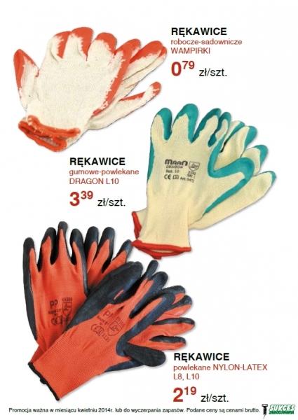 Rękawice robocze - ogrodowe, budowlane - cena od 0,79 zł