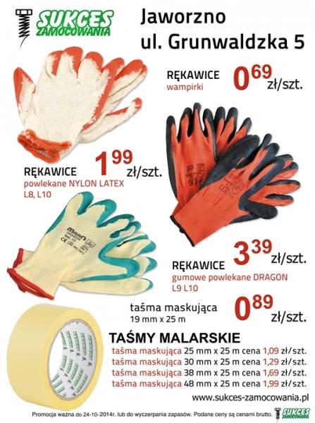 Rękawice robocze - taśmy malarskie - promocja!