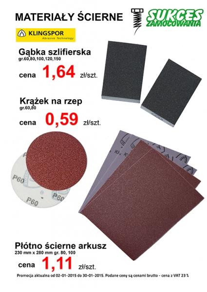 Materiały ścierne - Klingspor - promocje cenowe