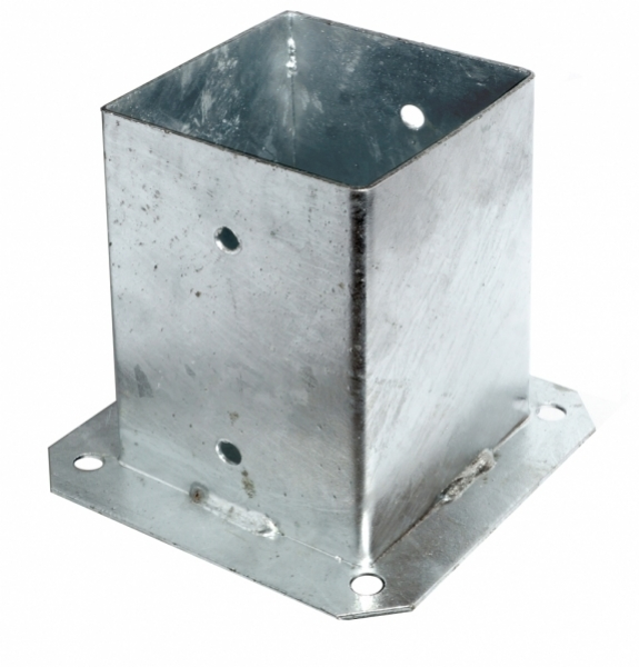 Podstawa słupka stalowa przykręcana 100x100 mm