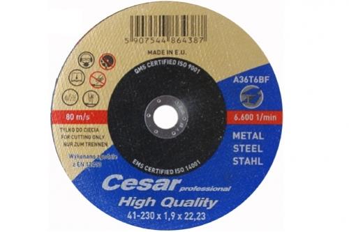 Tarcza Cesar do cięcia metalu 95A 41- 230x1.9x22