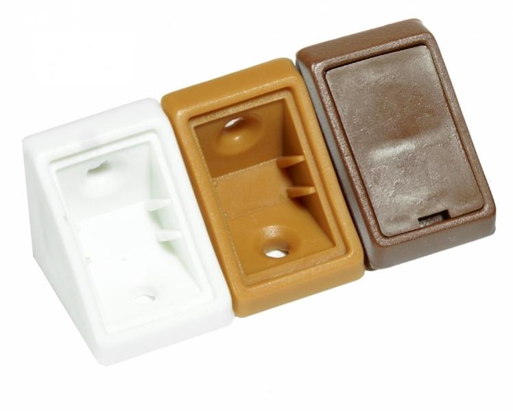 Kątownik meblowy plastikowy GO beżowy /100szt