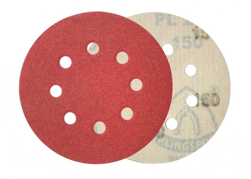 Dysk ścierny na rzep 125mm 150 Klingspor PL 28 CK z otworami /50 szt