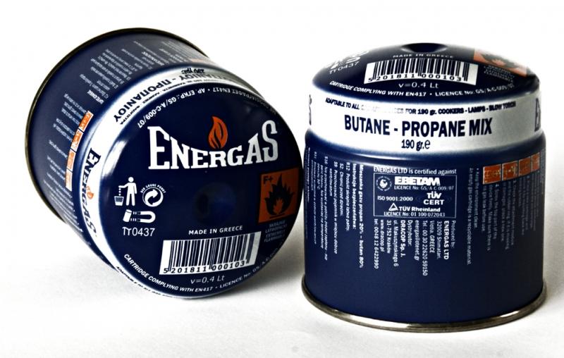 Nabój z gazem propan-butan Energas 190g GBS
