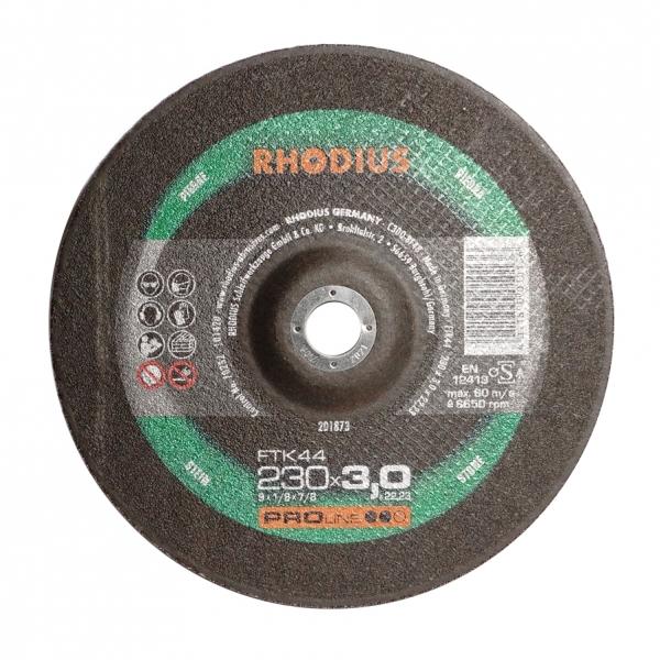 Tarcza do cięcia betonu wypukła 42-230x3,0x22 Rhodius FTK44 PRO