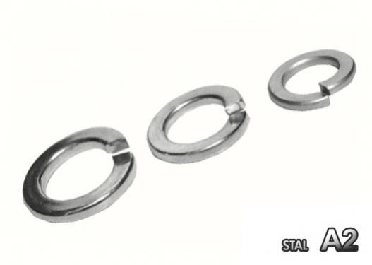 Podkładka sprężysta nierdzewna A2 DIN 127  5 / 100szt
